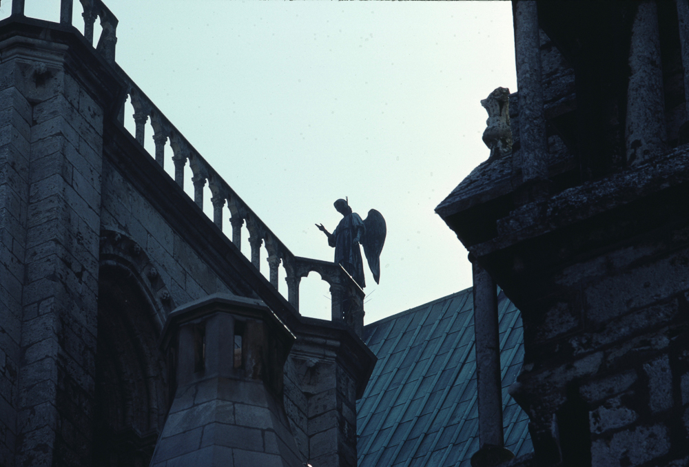 Chartres, roof, angel