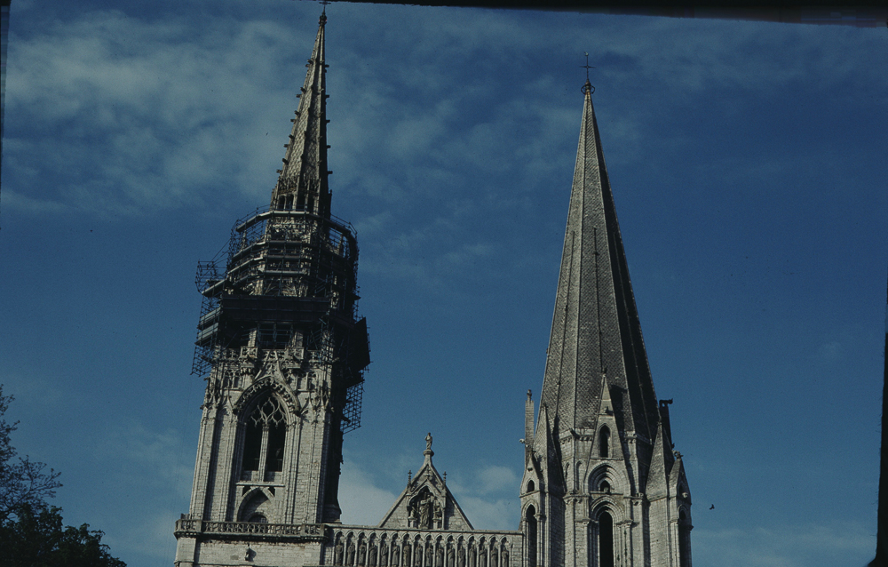 Restoration of the North tower of Chartres.