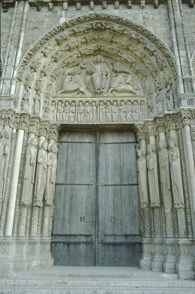 Chartres west side, central portal