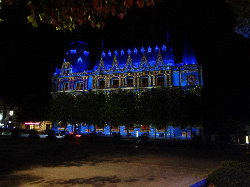 Post Office building Chartres Night illuminations
