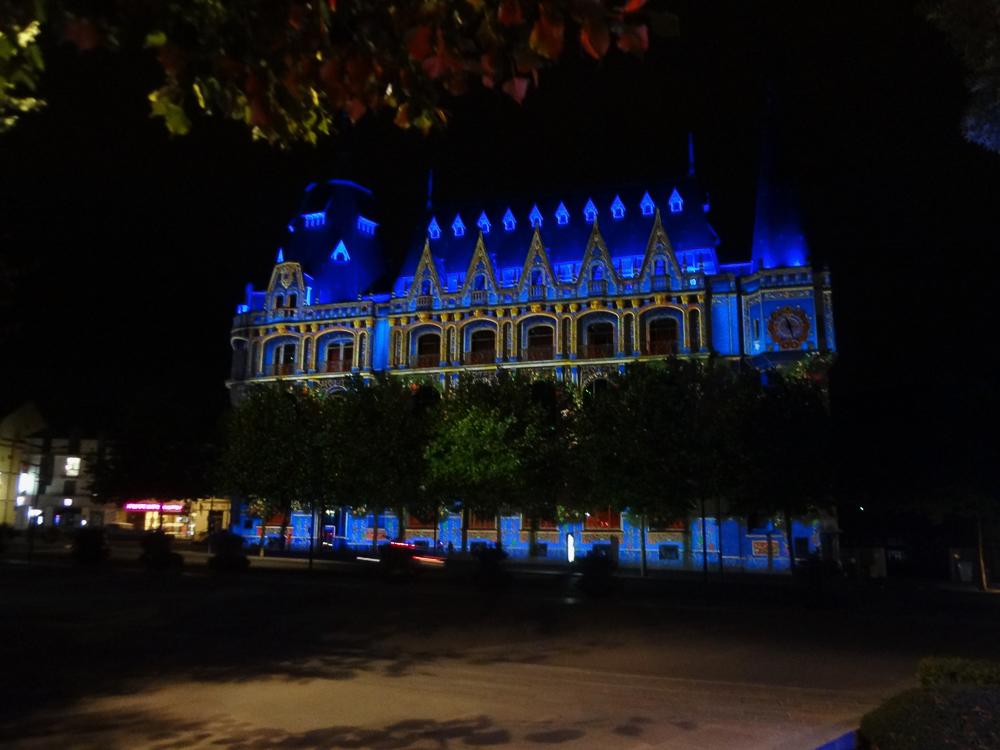 Post Office building Chartres Night illuminations