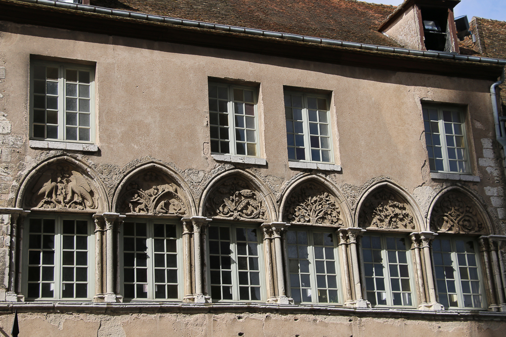 Episcopal buildings facing cathedral at Chartres