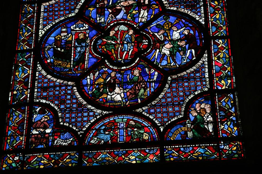 The Parable of the Good Samaritan window