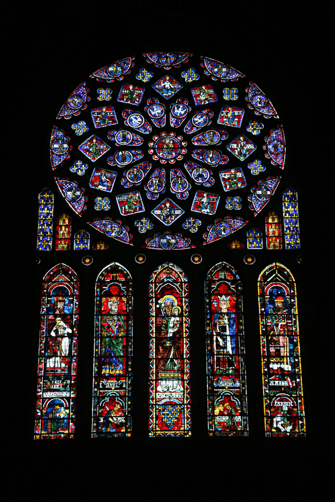 The North Rose and Lancet windows