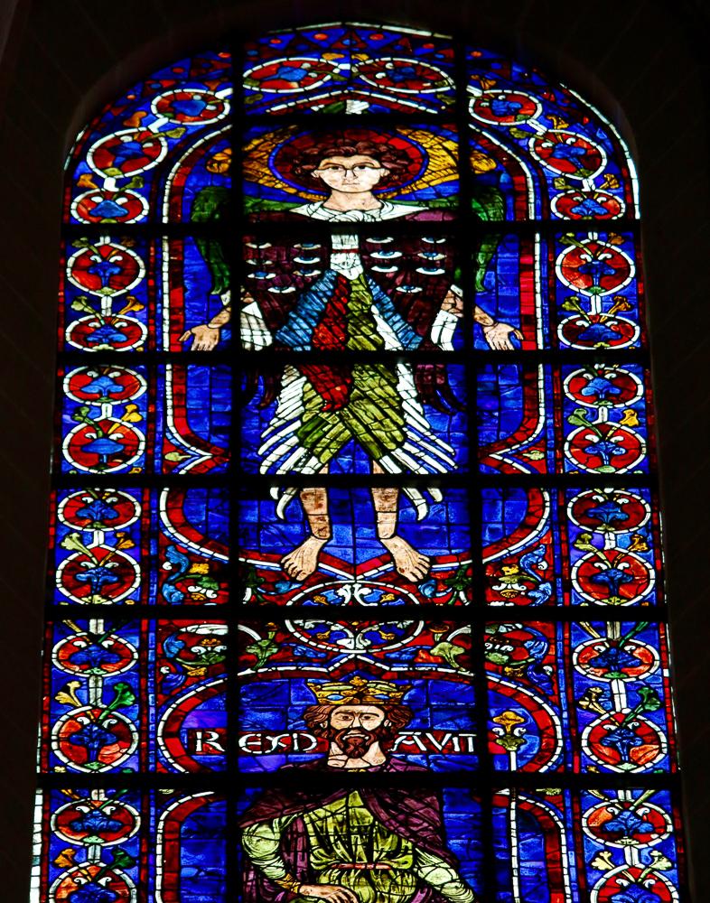 David and Winged Creature of Ezekiel