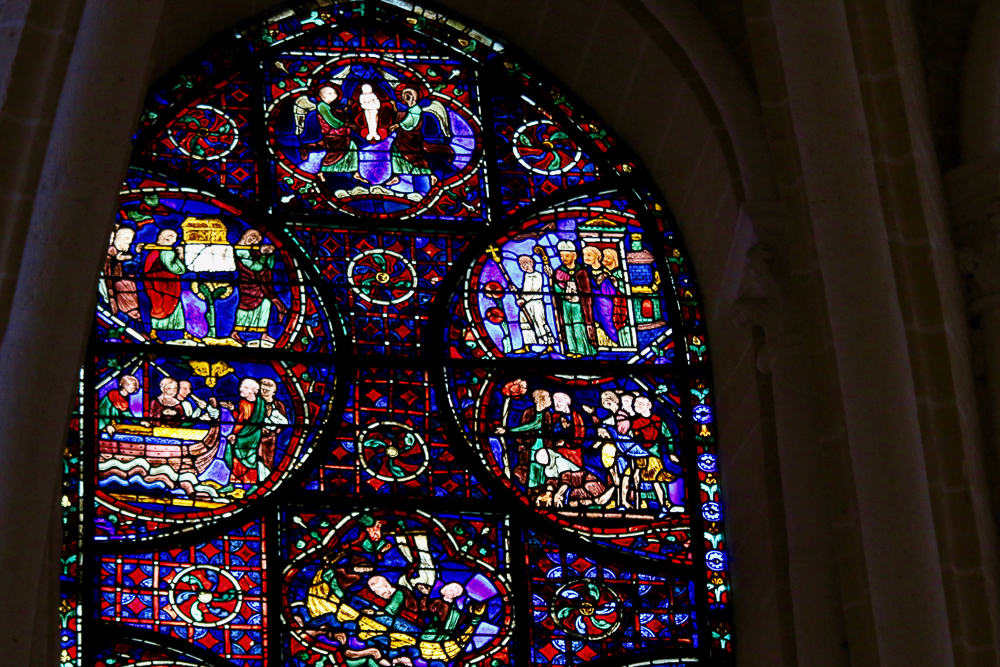 St. Stephen's Window South-east apsidal chapel Chartres Cathedra